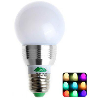 Zweihnder 3W 450 - 700nm E27 RC Bulb Light 250LM Dimmable Silver Edged RGB Bulb