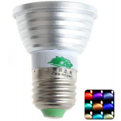 Zweihnder 3W 450 - 700nm E27 RC Spotlight Bulb 250LM Dimmable RGB Bulb