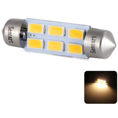 Sencart SV8.5 Double Pointed 39mm 3W 220lm Warm White Light Car Reading Light Decorative Light