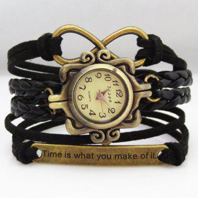 Layered Slogan Infinity Friendship Bracelet Watch