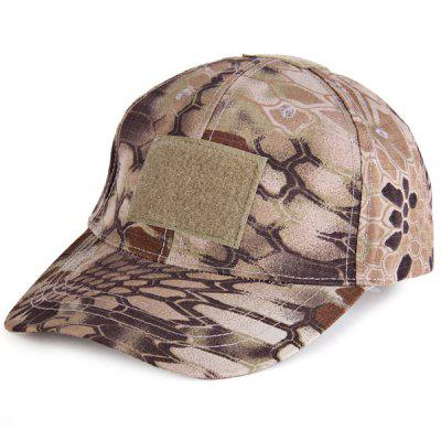 Cool Anaconda Pattern Peaked Cap Outdoor Anti - UV Camouflage Visors Baseball Hat with Velcros