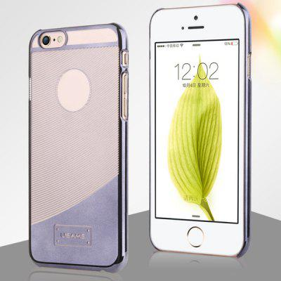 USAMS E - plating Series Transparent PC Material Curve Pattern Back Cover Case