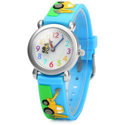 Christmas Gift Children Quartz Watch Car Rubber Watch Band