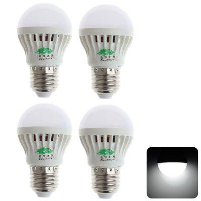 4 PCs Zweihnder 3W E27 SMD - 3528 11 - LEDs Light White Light Gold Shaped Ball Bulb  -  280LM