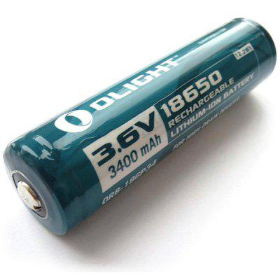 Olight 18650 3.6V 3400mAh Protected Rechargeable Li - ion Battery for M22 M18 S20 Flashlights