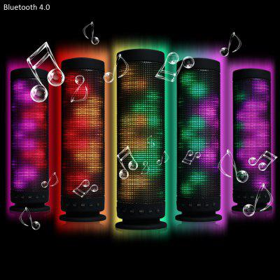 Innovative Fantasy Colorful LED Lamp MIC Wireless Bluetooth 4.0 Speaker Speakerphone Built - in Lithium Battery for Christmas Party Disco KTV Bar