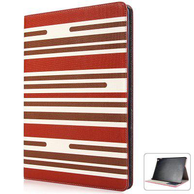 Fashionable Contrast Color Stripe Pattern PU and PC Material Cover Case