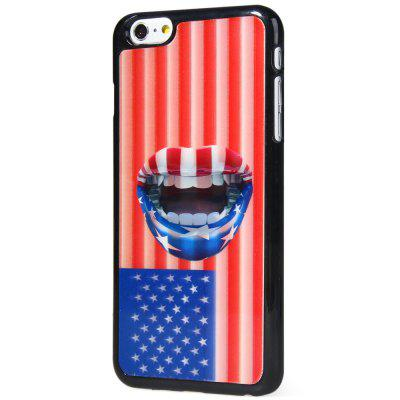 Stylish Plastic Material Back Case Cover with 3D Vary Picture Design  -  Stars and Stripes Lip Pattern