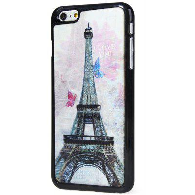 Stylish PC Material Back Case Cover with 3D Vary Picture Design  -  Iron Tower and Butterfly Pattern