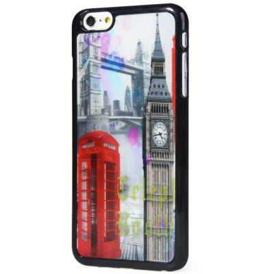 Fashionable Plastic Material Back Case Cover with 3D Vary Picture Design  -  Bell Tower and Telephone Booth Pattern