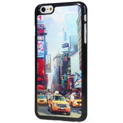 Fashionable Plastic Material Back Case Cover with 3D Vary Picture Design  -  Statue of Liberty and Street Pattern