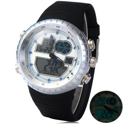 LED Watch Digital Analog Wristwatch