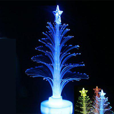 12cm Christmas Crystal Tree Colorful Changing LED Light with Paster Base for Christmas Ornament
