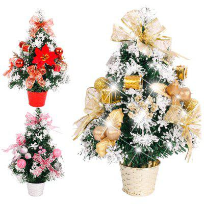 1pc 30cm Christmas Tree Bonsai PVC Desktop Decors for Christmas Decoration