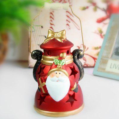 Hand - held Ceramic Santa Clause Decoration Colors Changing LED Light for Christmas Gifts