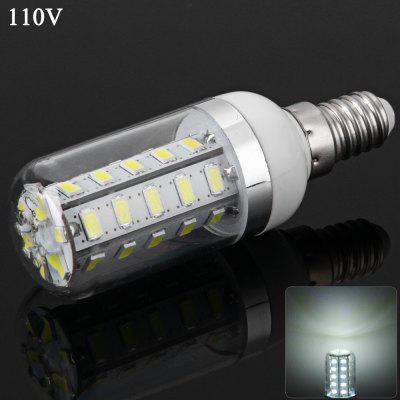E14 7W SMD - 5730 36 LEDs 1600Lm 6000 - 6500K Bulb 110V Dimmable Transparent Corn Lamp