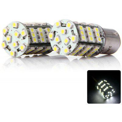 Sencart 4W 54 SMD - 3528 LEDs 1157 P21/5W Ba15d Auto Car Lamp White Light Tail Rear Bulb  -  2 pcs/pack