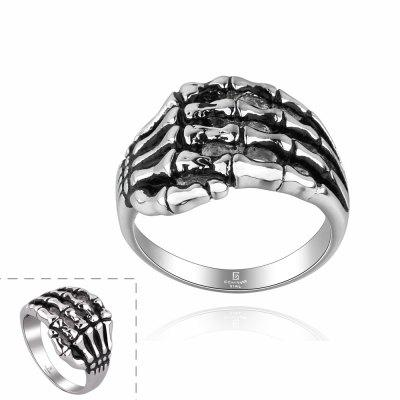 Vintage Style Skeleton Hands Shape Neutral Ring