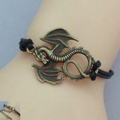 Retro Dragon With Wings Design Bracelet