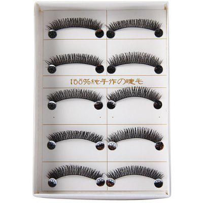 New Arrival Hand - made Super Exquisite 5 Pairs of Eyelashes for Ladies  -  Number 282