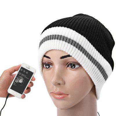 3.5mm White Edge Musical Speaker Hat Earphone Cap
