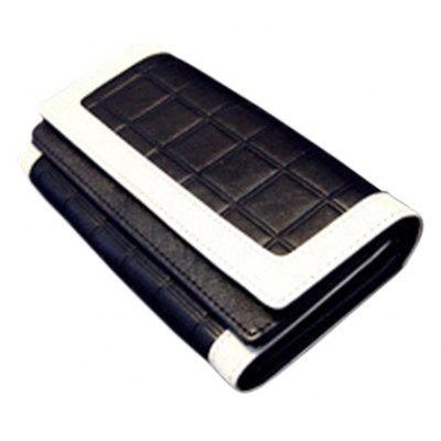 Color Block Design Clutch Wallet For Women