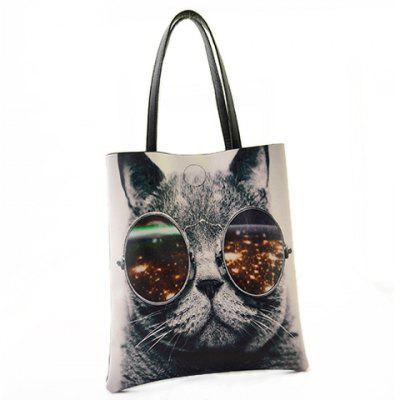 Stylish PU Leather and Animal Pattern Design Women's Shoulder Bag