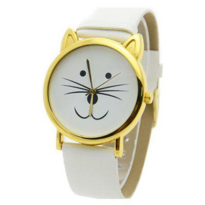 Cute Kitten Shape Watch For Women