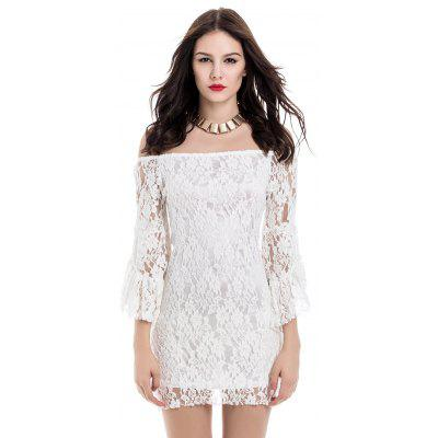 Mini Off Shoulder Lace Tight Club Dress
