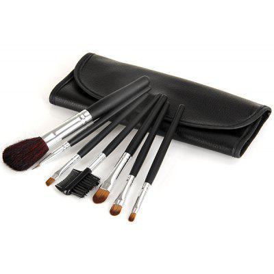 7Pcs Professional  Makeup Brushes Cosmetic Face Powder Brush Set