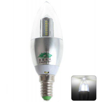 Buy COOL WHITE Zweihnder E14 4W 32xSMD 3014 LEDs Light 5500 6000K 380Lm Candle Bulb for $1.89 in GearBest store