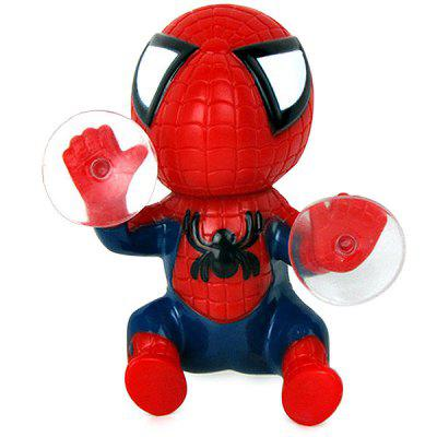 12cm Spider Doll Window Sucker Climbing Spiderman Toy Car Home Ornaments 18cm the amazing spider man action figure toys set super hero anime spiderman collectible model toy christmas gifts n049