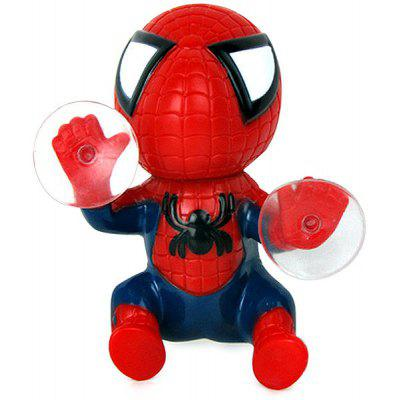 12cm Spider Doll Window Sucker Նվաճելով Spiderman Toy Car Home զարդ