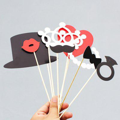 8pcs Photo Booth Props Stick Photography Props for Christmas Wedding Party