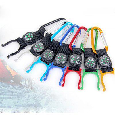 4Pcs Multi - use Carabiner Key Chain Water Bottle Buckle Hanger Hiking Adventure Necessaries