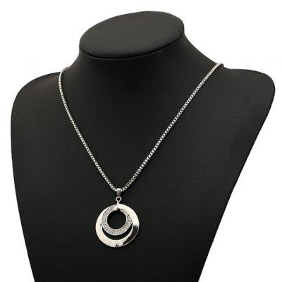Buy SILVER Attractive Round Shape Pendant Women's Sweater Chain Necklace for $3.41 in GearBest store
