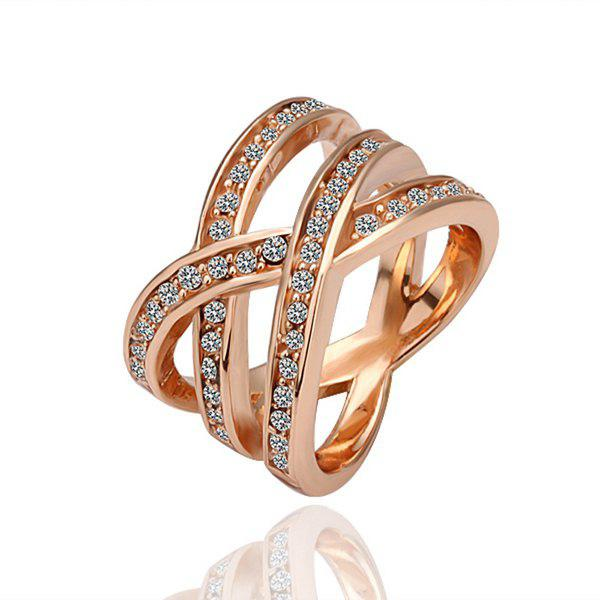 Rose Gold Plated Braid Alloy Ring