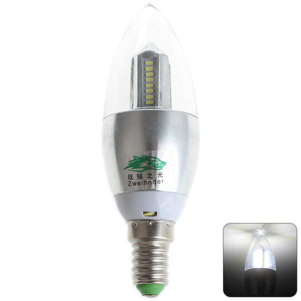 COOL WHITE Zweihnder E14 4W 32xSMD 3014 LEDs Light 5500 6000K 380Lm Candle Bulb