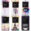 Fashionable Eiffel Tower Pattern PC and PU Material Protective Cover Case
