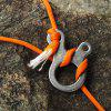 3 Hole Veloce Knot Rope Buckle Outdoor Hiking Campeggio Climbing Necessario - ARGENTO