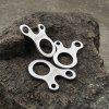 3 Holes Fast Knot Rope Buckle Outdoor Hiking Camping Climbing Necessary - SILVER