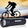 Pindo S2F Mini Flashlight Bicycle Music Speaker TF Card Bike MP3 Music Player FM Radio BLACK