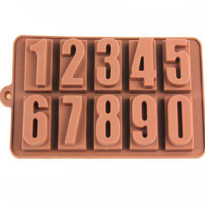 Number Style Chocolate Pudding Ice Cube Tray