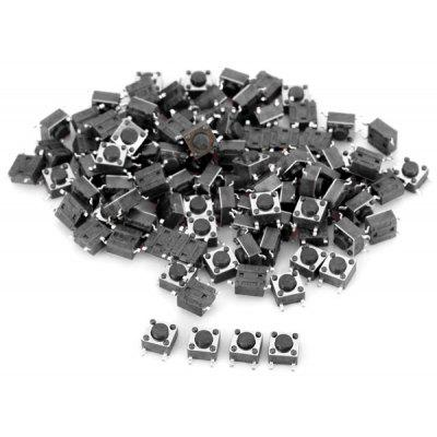 PA66 DIY DC 12V 50mA Tact Switches for Electronic Components  -  100PCS
