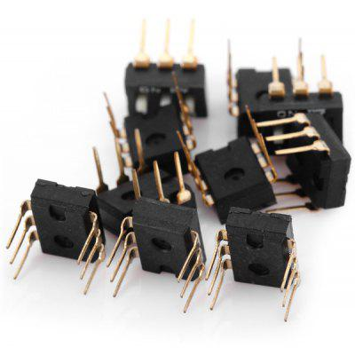 Practical 25mA 3 Pole 2 Position 6Pin Dip Switch for DIY Project  -  10PCS