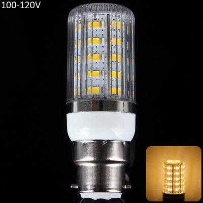 B22 12W 1100LM 36 x SMD 5630 3000  -  3200K LED Corn Bulb with Striped Cover  -  100  -  120V