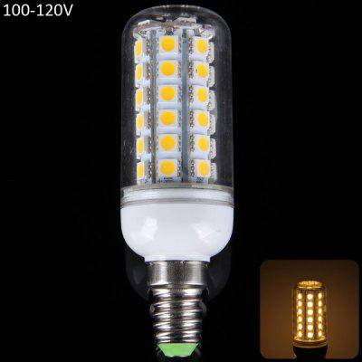 E14 15W 1350LM 48 x SMD 5050 3000  -  3200K LED Corn Lamp with Transparent Shade  -  100  -  120V