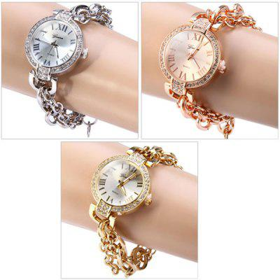 Geneva Female Chain Watch Quartz Wristwatch