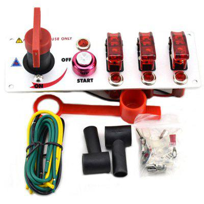Multifunctional Automobile Race Engine Start Button Ignition 3 - Group Combination Switch  -  DC 12V