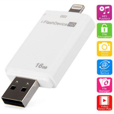 High Speed 16GB i - Flash Drive HD USB2.0 Flash Memory U Disk for iPhone iPad Desktop Laptop